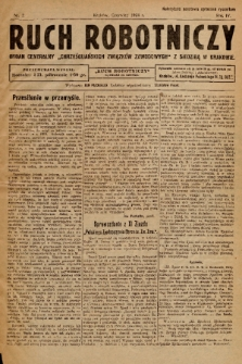 """Ruch Robotniczy : organ centralny """"Chrześcijańskich Związków Zawodowych"""" z siedzibą w Krakowie. 1924, nr 2"""