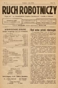 """Ruch Robotniczy : organ centralny """"Chrześcijańskich Związków Zawodowych"""" z siedzibą w Krakowie. 1930, nr 2"""
