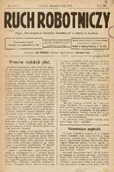 """Ruch Robotniczy : organ """"Chrześcijańskich Związków Zawodowych"""" z siedzibą w Krakowie. 1931, nr 1-2"""