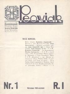 Peowiak : oficjalny organ Związku Peowiaków Okręgu Województwa Warszawskiego. 1930, nr1