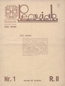 Peowiak : oficjalny organ Związku Peowiaków. 1931, nr1