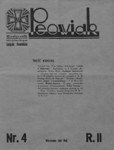 Peowiak : oficjalny organ Związku Peowiaków. 1931, nr4