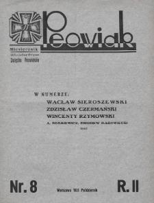 Peowiak : oficjalny organ Związku Peowiaków. 1931, nr8