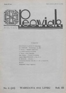 Peowiak : organ Związku Peowiaków. 1932, nr6