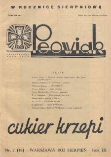 Peowiak : organ Związku Peowiaków. 1932, nr7