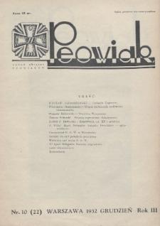 Peowiak : organ Związku Peowiaków. 1932, nr10