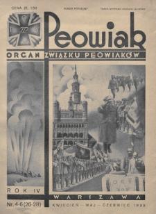 Peowiak : organ Związku Peowiaków. 1933, nr4-6