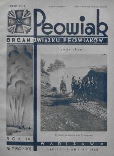 Peowiak : organ Związku Peowiaków. 1933, nr7-8