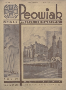 Peowiak : organ Związku Peowiaków. 1933, nr9-10