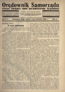 Orędownik Samorządu : organ Związku Gmin Województwa Śląskiego. 1926, nr6-7