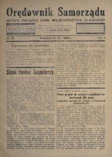 Orędownik Samorządu : organ Związku Gmin Województwa Śląskiego. 1926, nr18