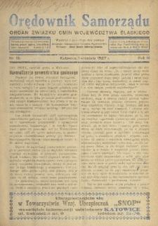 Orędownik Samorządu : organ Związku Gmin Województwa Śląskiego. 1927, nr15