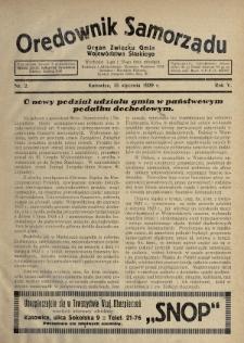 Orędownik Samorządu : organ Związku Gmin Województwa Śląskiego. 1929, nr2
