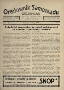 Orędownik Samorządu : organ Związku Gmin Województwa Śląskiego. 1929, nr3-4