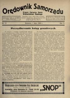 Orędownik Samorządu : organ Związku Gmin Województwa Śląskiego. 1929, nr12