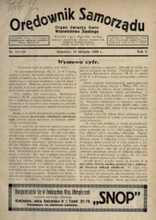 Orędownik Samorządu : organ Związku Gmin Województwa Śląskiego. 1929, nr14-16