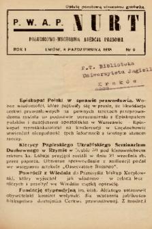 Nurt : południowo-wschodnia agencja prasowa. 1938, nr 9
