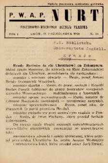 Nurt : południowo-wschodnia agencja prasowa. 1938, nr 10