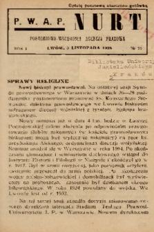 Nurt : południowo-wschodnia agencja prasowa. 1938, nr 13