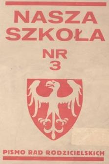 Nasza Szkoła : pismo Rad Rodzicielskich : organ Rad Rodzielskich Obwodu Szkolnego Cieszyńskiego. 1935, nr3