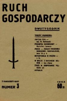 Ruch Gospodarczy : dwutygodnik. 1937, nr 3