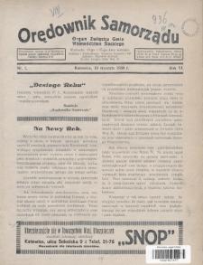 Orędownik Samorządu : organ Związku Gmin Województwa Śląskiego. 1930, nr1