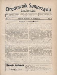 Orędownik Samorządu : organ Związku Gmin Województwa Śląskiego. 1930, nr2-3