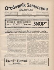 Orędownik Samorządu : organ Związku Gmin Województwa Śląskiego. 1930, nr4-5