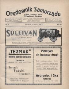 Orędownik Samorządu : organ Związku Gmin Województwa Śląskiego. 1930, nr6