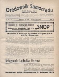 Orędownik Samorządu : organ Związku Gmin Województwa Śląskiego. 1930, nr10-11