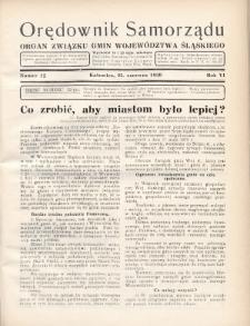 Orędownik Samorządu : organ Związku Gmin Województwa Śląskiego. 1930, nr12