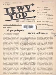 Lewy Tor : dwutygodnik społeczno-literacki. 1936, nr1-2