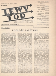 Lewy Tor : dwutygodnik społeczno-literacki. 1936, nr4