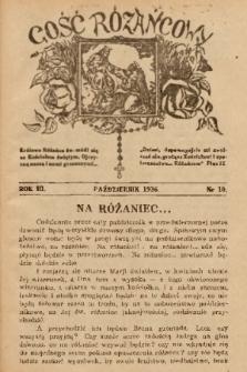 Gość Różańcowy. 1936, nr 10