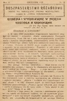 """Duszpasterstwo Różańcowe : Nauki na miesięczne zmiany różańcowe : dodatek do """"Gościa Różańcowego"""". 1937, nr 12"""