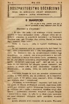 """Duszpasterstwo Różańcowe : Nauki na miesięczne zmiany różańcowe : dodatek do """"Gościa Różańcowego"""". 1938, nr 5"""