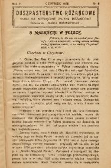 """Duszpasterstwo Różańcowe : Nauki na miesięczne zmiany różańcowe : dodatek do """"Gościa Różańcowego"""". 1938, nr 6"""