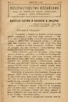"""Duszpasterstwo Różańcowe : Nauki na miesięczne zmiany różańcowe : dodatek do """"Gościa Różańcowego"""". 1938, nr 8"""
