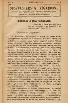 """Duszpasterstwo Różańcowe : Nauki na miesięczne zmiany różańcowe : dodatek do """"Gościa Różańcowego"""". 1938, nr 9"""