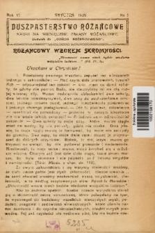 """Duszpasterstwo Różańcowe : Nauki na miesięczne zmiany różańcowe : dodatek do """"Gościa Różańcowego"""". 1939, nr 1"""