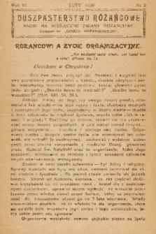 """Duszpasterstwo Różańcowe : Nauki na miesięczne zmiany różańcowe : dodatek do """"Gościa Różańcowego"""". 1939, nr 2"""
