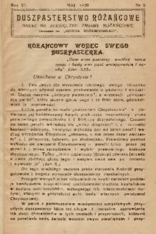"""Duszpasterstwo Różańcowe : Nauki na miesięczne zmiany różańcowe : dodatek do """"Gościa Różańcowego"""". 1939, nr 5"""