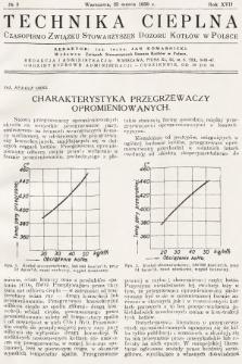 Technika Cieplna : czasopismo Związku Stowarzyszeń Dozoru Kotłów w Polsce. R. 17, 1939, nr3
