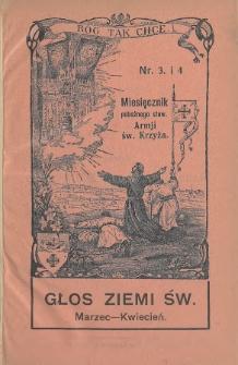 Głos Ziemi Świętej : miesięcznik pobożnego stow. Armii św. Krzyża. 1931, nr3-4