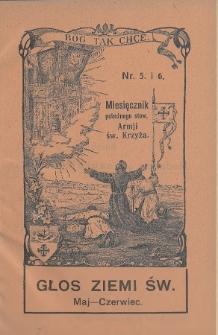 Głos Ziemi Świętej : miesięcznik pobożnego stow. Armii św. Krzyża. 1931, nr5-6