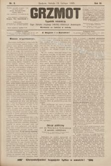 Grzmot : tygodnik robotniczy : Organ Związku krajowego katolicko-robotniczych stowarzyszeń. 1898, nr8