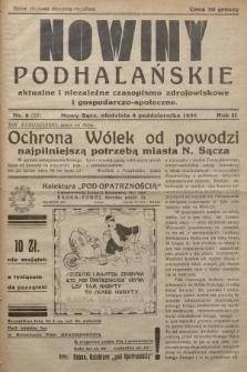 Nowiny Podhalańskie : aktualne i niezależne czasopismo zdrojowiskowe i gospodarczo-społeczne. 1936, nr9 (26)