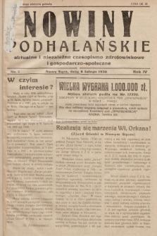 Nowiny Podhalańskie : aktualne i niezależne czasopismo zdrojowiskowe i gospodarczo-społeczne. 1938, nr2