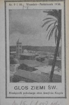 Głos Ziemi Świętej : miesięcznik pobożnego stow. Armii św. Krzyża. 1930, nr9-10