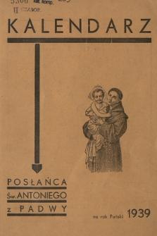 Kalendarz Posłańca Św. Antoniego z Padwy na Rok Pański 1939